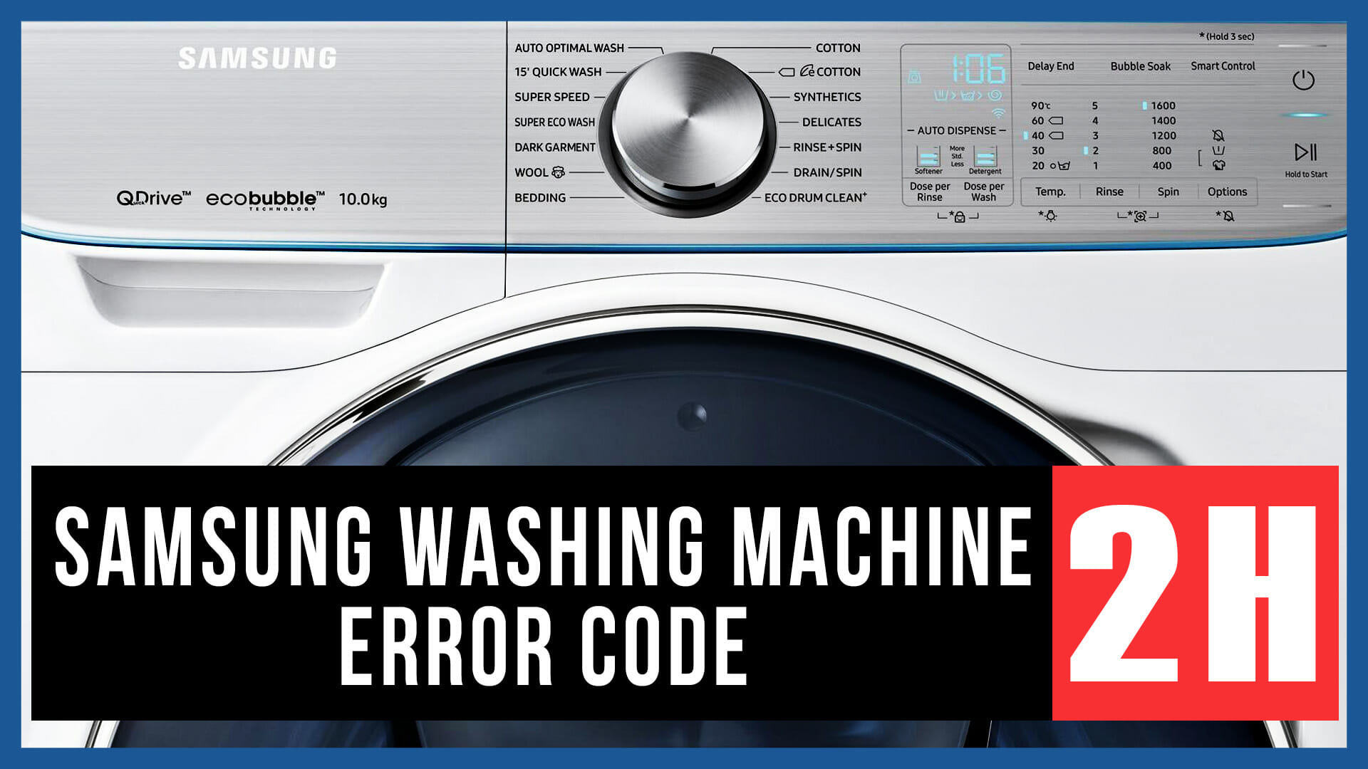 Samsung washing machine error code 2H