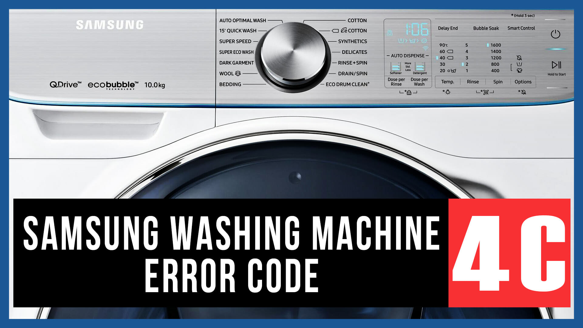Samsung washing machine error code 4C