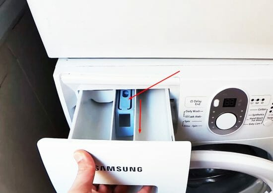 How to pull out a washing machine tray Samsung