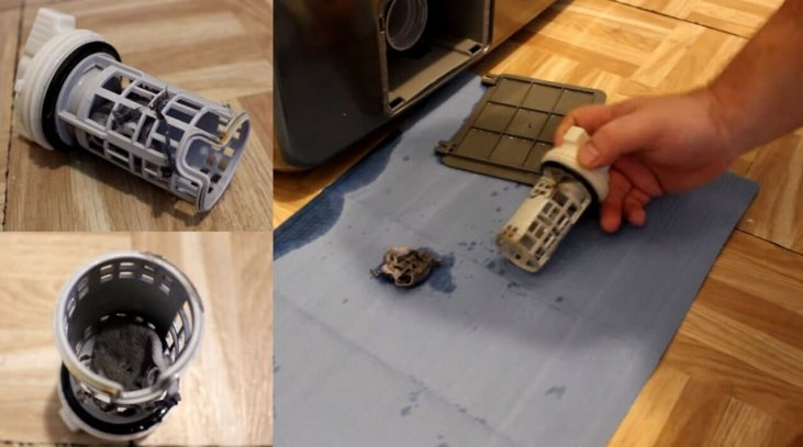 Tıkanmış filtre yıkama makinesi Samsung