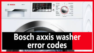 Bosch axxis washer error codes