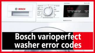 Bosch varioperfect washer error codes