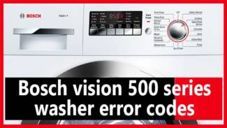 Bosch vision 500 series washer error codes