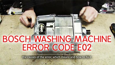 Bosch washer e02 error code