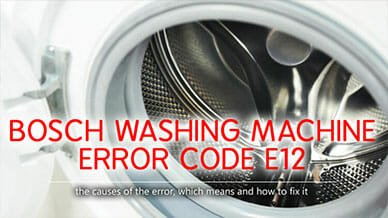Bosch washer e12 error code