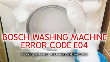 Bosch washer error code e04