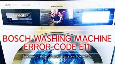 Bosch washer error code e11