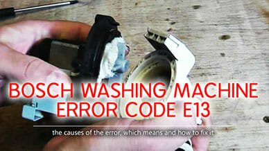 Bosch washer error code e13