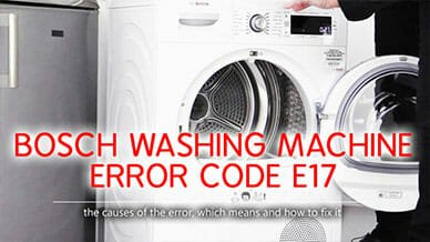 Bosch washer error code e17