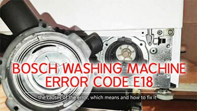 Bosch washer error code e18