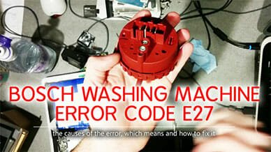 Bosch washer error code e27