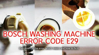 Bosch washer error code e29
