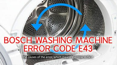 Bosch washer error code e43