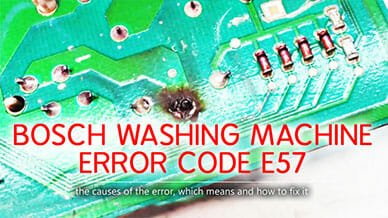 Bosch washer error code e57