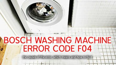 Bosch washer error code f04