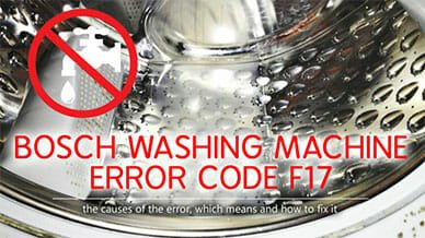 Bosch washer error code f17