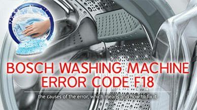 Bosch washer error code f18