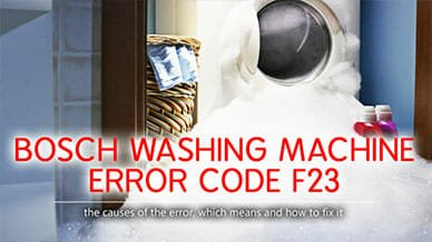 Bosch washer error code f23