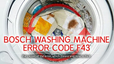 Bosch washer error code f43