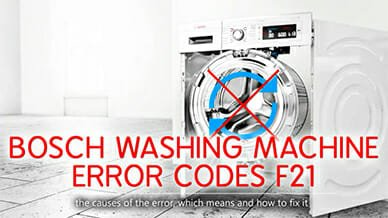 Bosch washer error codes f21