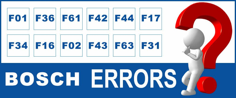 Bosch washer error codes