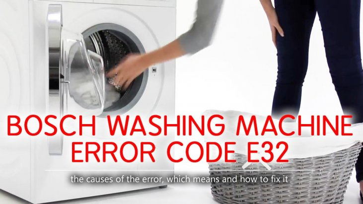 Bosch washing machine error code e32