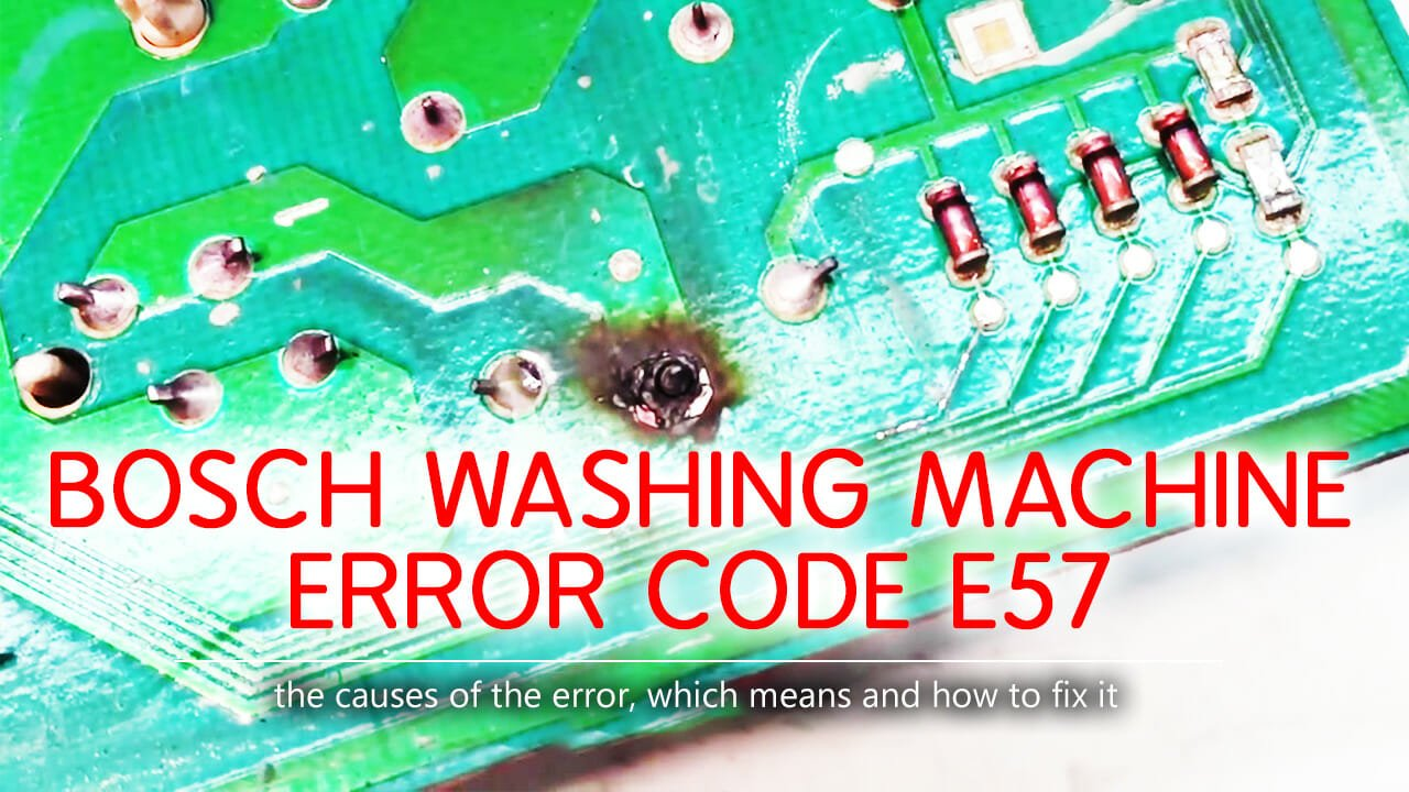 Bosch washing machine error code e57