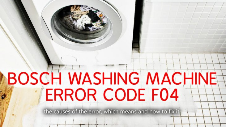 Bosch washing machine error code f04
