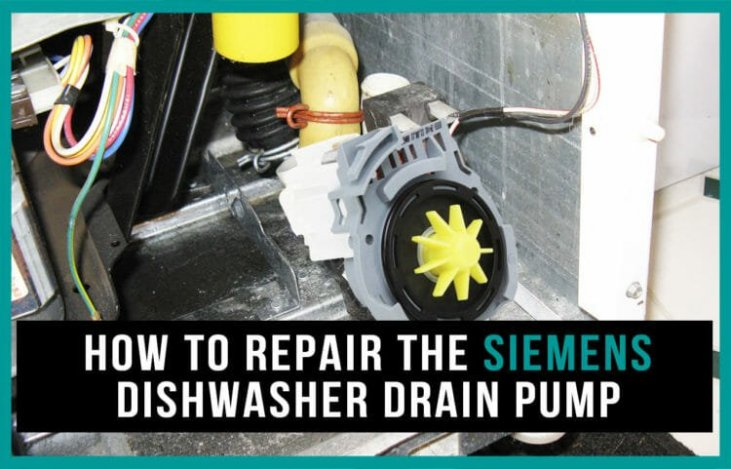 How to repair the Siemens dishwasher drain pump