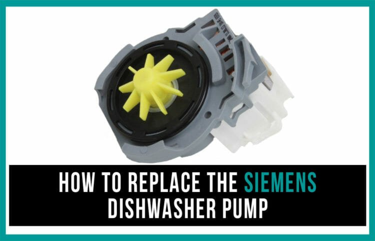 How to replace the Siemens dishwasher pump
