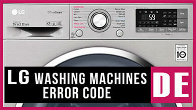 LG washer DE error code