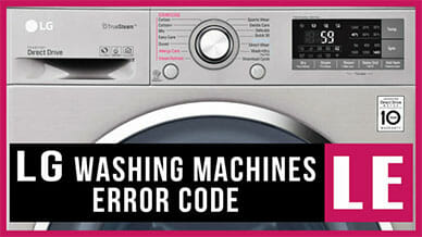LG washer LE error code