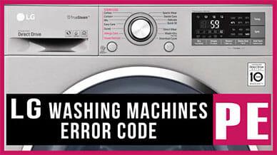 LG washer PE error code