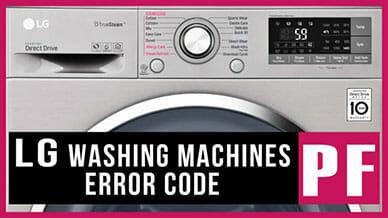 LG washer PF error code