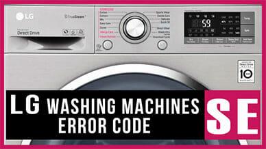 LG washer SE error code
