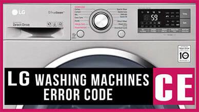 LG washer error code CE