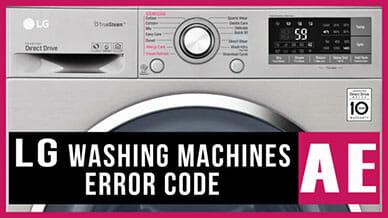 LG washers AE error code