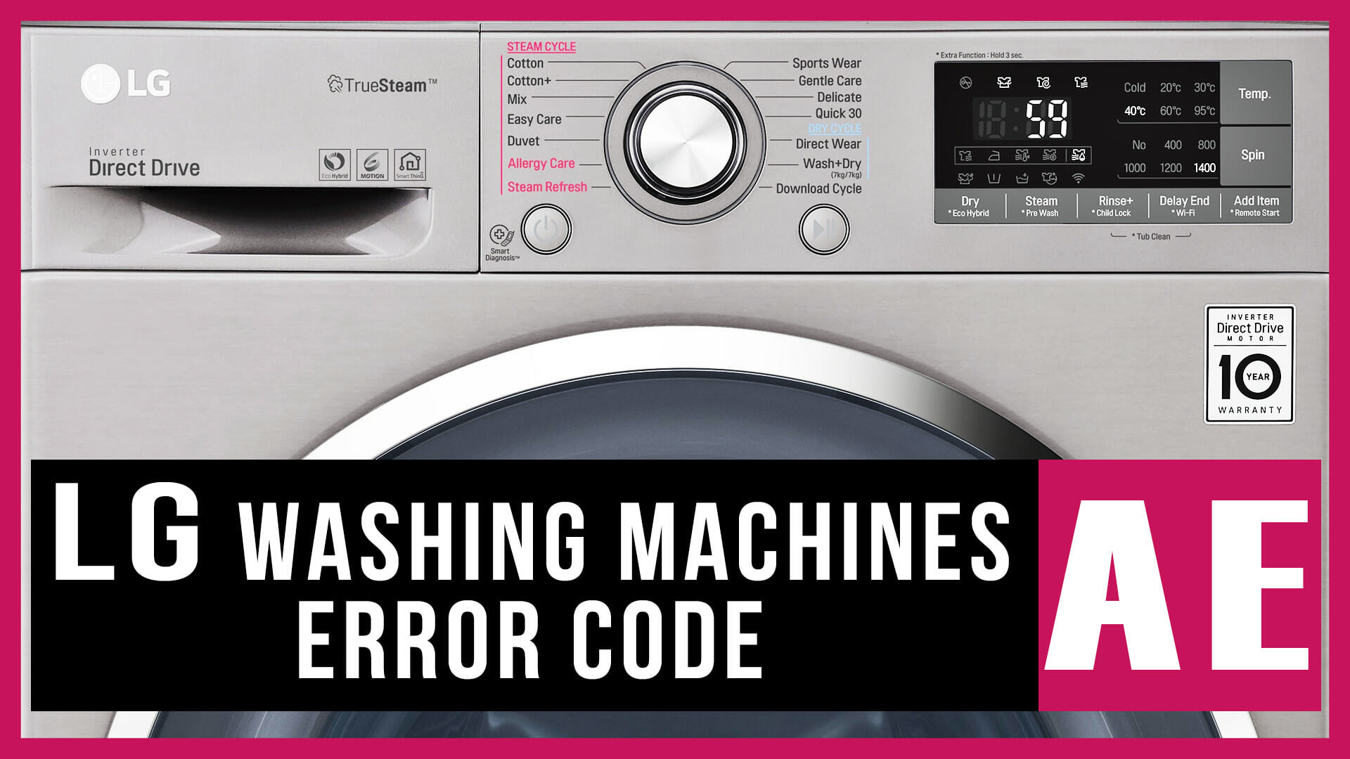 LG washing machines error code AE