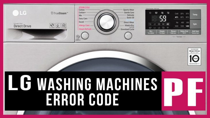 Lg Washer Error Code Pf Causes How Fix Problem