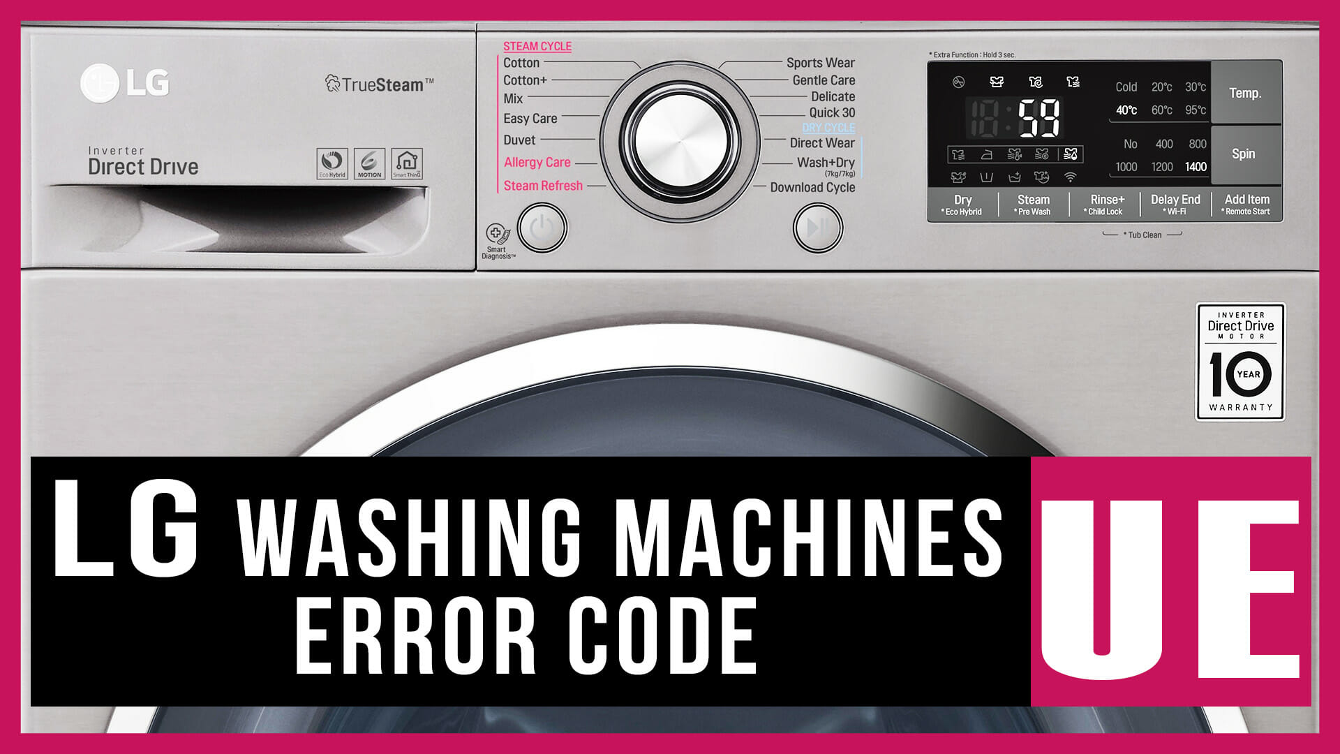 LG washing machines error code UE