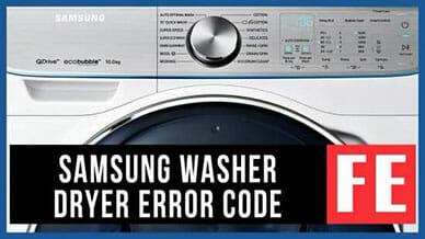 Samsung washer FE error code