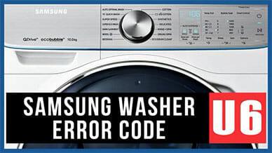 Samsung washer U6 error code