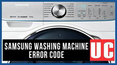 Samsung washer UC error code
