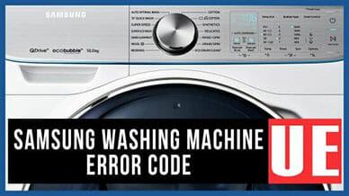 Samsung washer UE error code