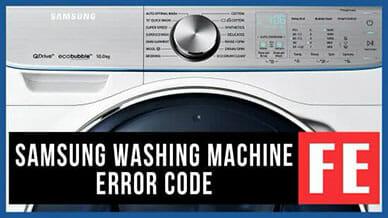 Samsung washer error FE code