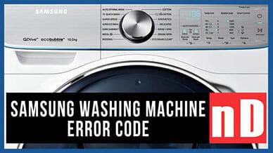 Samsung washer nD error code