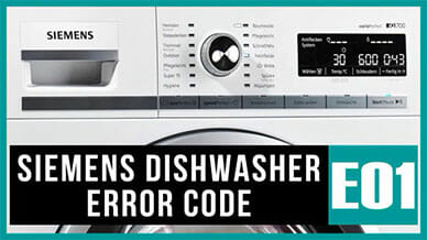 Siemens dishwasher e01 error code