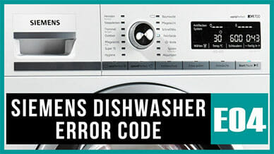 Siemens dishwasher e04 error code