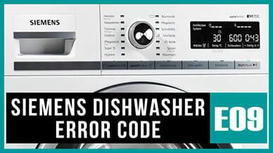 Siemens dishwasher e09 error code