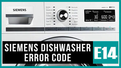 Siemens dishwasher e14 error code